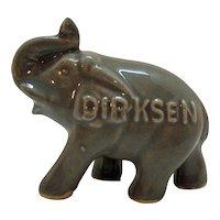 Vintage Hard to Find Everett Dirksen Political Souvenir Ceramic Ring Holder Elephant 1950-69 Very Good Condition