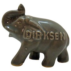 Vintage Hard to Find Everett Dirksen Political Souvenir Ceramic Ring Holder Elephant 1950-69 Very Good Condition