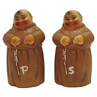Vintage Large Set Twin Winton Monks S&P Shakers 1960s Very Good Condition