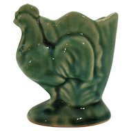 Vintage Green Ceramic Rooster Tooth Pick/Match Holder 1930-40s Good Condition