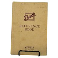 Vintage Buick Reference Book for Models C36 & C37 1914 Copyright Good Condition