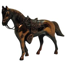 Vintage Metal Horse with Copper Wash 1950s Very Good Condition
