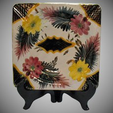 Vintage Large Colorful Italian Ashtray 1950-60s Hand Painted Very Good Condition