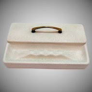 Vintage Ceramic Cigarette box with Ashtray 1950-60s Good Condition