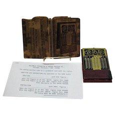 Vintage VE-OP-AD Hand Held Adding & Subtraction Machine 1920-40 Good Condition