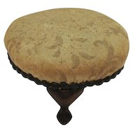 Vintage Footed Stool Pin Cushion 1940-50s Good Condition