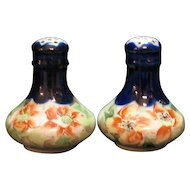 Vintage 1930s Hand Painted Shakers Floral Motif Good Condition