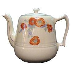Vintage Hall Great American Coffee Pot Orange Poppy Motif Very Good Condition