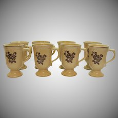 Vintage 8 Pfaltzgraff Grand Mugs 1970s Village Pattern