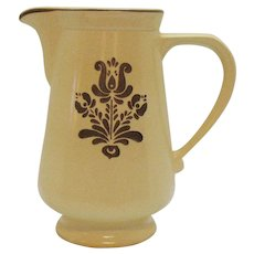 Vintage Pfaltzgraff 2 Quart Pitcher 1970s Village Pattern