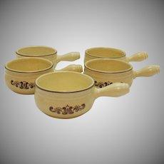 Vintage Pfaltzgraff Open Onion Soup 1970s Village Pattern Good Condition