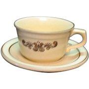 Vintage Pfaltzgraff 13 Cups & Saucer Sets Village Pattern 1970s Good Condition
