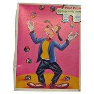 Vintage Walt Disney Large Floor Puzzle of Goofy the Juggler 1980s Complete