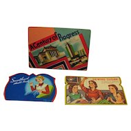 Vintage (3) Needle Books Including World's Fair 1933-34 Good Condition