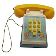 Vintage Fisher Price Pop-Up-Pal Telephone 1968 Good Working condition