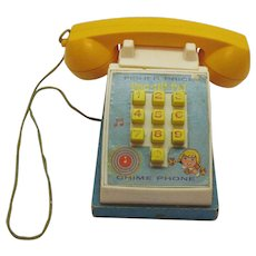 Vintage Fisher Price Pop-Up-Pal Phone 1968 Good Working condition