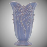 Vintage Nelson McCoy Butterfly Vase Lavender Color 1940s Good Condition