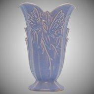 Vintage Nelson McCoy Butterfly Vase Lavender Color 1940s Good Condition