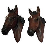 Vintage Horse Wall Plaques by Importer Norcrest 1950s Very Good Condition