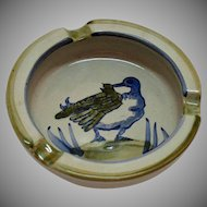 Vintage Louisville Stoneware Hand Painted Ashtray from Kentucky 1970s Very Good Condition