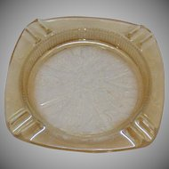 Vintage Jeannette Ashtray/Coaster Louisa Iridescent Floragold Pattern 1950s Good Condition