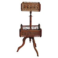 Vintage Antique Fretwork Spool Sewing Stand 1880s Good Condition