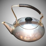 Vintage One Cup Aluminum Tea Pot 1930-40s Good Condition