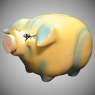 Vintage Hull Corky Pig Still Pig Bank 1957 Good Condition