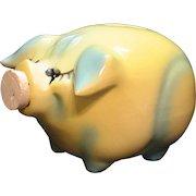 Vintage Hull Corky Pig Still Pig Bank 1957 Good Condition