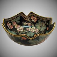 Vintage Cloisonné Bowl Andrea by Sadek 1970s Good Condition