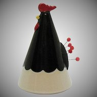 Vintage Ceramic Rooster Pin Cushion 1960-70s Good Condition