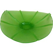 Vintage Fenton Art Glass Satin/Stretch Green Glass Banana Bowl 1920-30s Very Good Vintage Condition