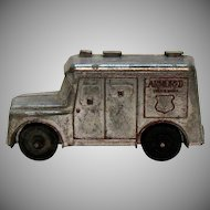 Vintage Metal Still Bank Brinks Armored Truck 1960s Good Vintage Condition
