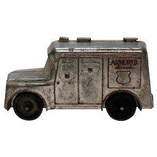 Vintage Metal Still Bank Brinks Armored Truck 1960s Good Vintage Condition