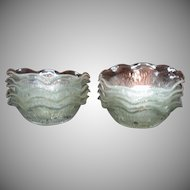 Vintage Jeannette Depression glass Iris Pattern 10 Sauce Bowls Ruffled Edge 1928-32
