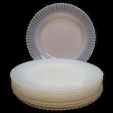 Vintage Macbeth Evans Depression glass Dinner Plates Petalware Monax Pattern 1930-50s like New Condition
