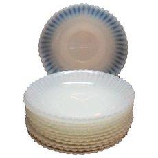 Vintage Macbeth Evans Depression glass Saucers Petalware Monax Pattern 1930-50s like New Condition