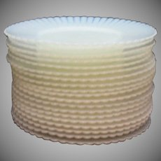 Vintage Macbeth Evans Depression glass Bread & Butter Plates Petalware Monax Pattern 1930-50s like New Condition.