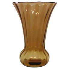 Vintage Fenton Rib Optic Vase 1930s Very Good Condition