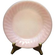 Vintage Anchor Hocking Fire King Salad Plate Pink Swirl Pattern 1949-62 Good Condition