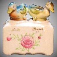 Vintage Nodder Ducks S&P Shakers Oklahoma Souvenir 1930s or 50s Good Condition