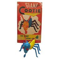 Vintage Giant Cootie Game/Banks Schaper Mfg. Co. 1949 Good Condition