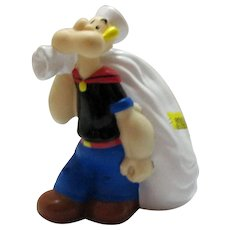 Vintage Popeye the Sailor Man Vinyl Bank 1970s Good Condition
