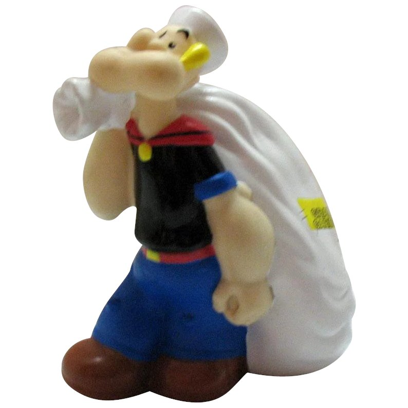 Great Gift For Collectors Valentines Popeye The Sailor Man Bank RARE Find Collectible Bank Antique Popeye 1950/'s American Bisque Bank
