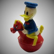 Vintage Donald Duck Roly Poly Toy 1960-70s Good Vintage Condition