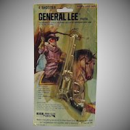 Vintage General Lee Toy Cap Pistol Still in Original Package 1980 Very Good Condition