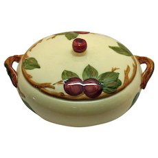 Vintage Franciscan Ware Round Covered Vegetable Apple Motif 1940-49 Very Good Condition