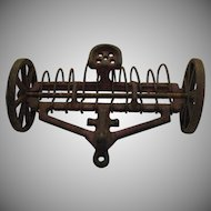 Vintage Arcade Toy Farm Implement Cast Iron 1920-30s Good Vintage Condition