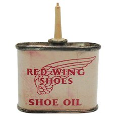 Vintage Red Wing Shoe Oil Can 1950-60s Good Condition