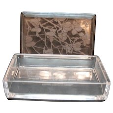 Signed Tiffany and Co 1982 Vintage Commemorative Glass Box by Val St. Lambert